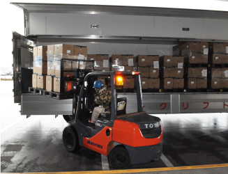 Storage space / Sendai Head Office warehouse
